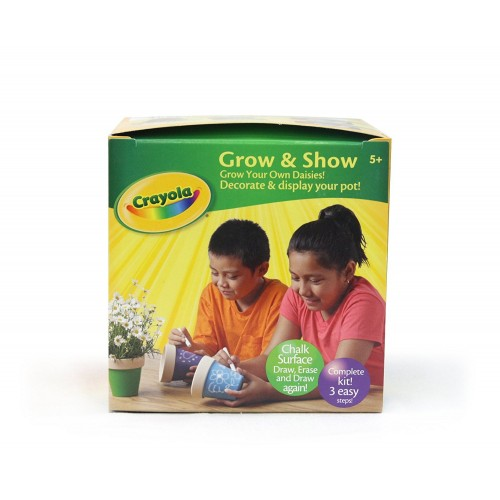 "Crayola ""Decorate It"" 4"" Chalk Flower Pot Collection"