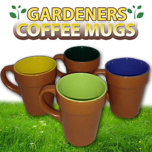 Gardeners Spring Gardening Pot Coffee Mug - Four Pack